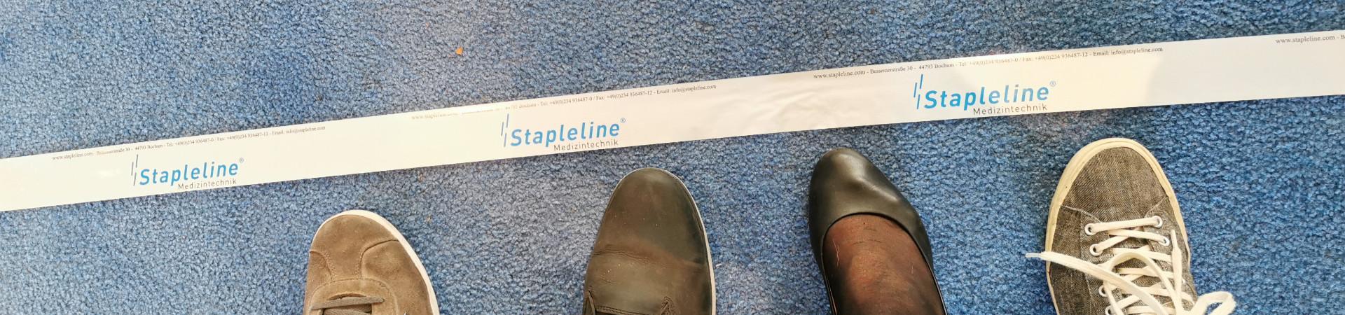 Startlinie Füße