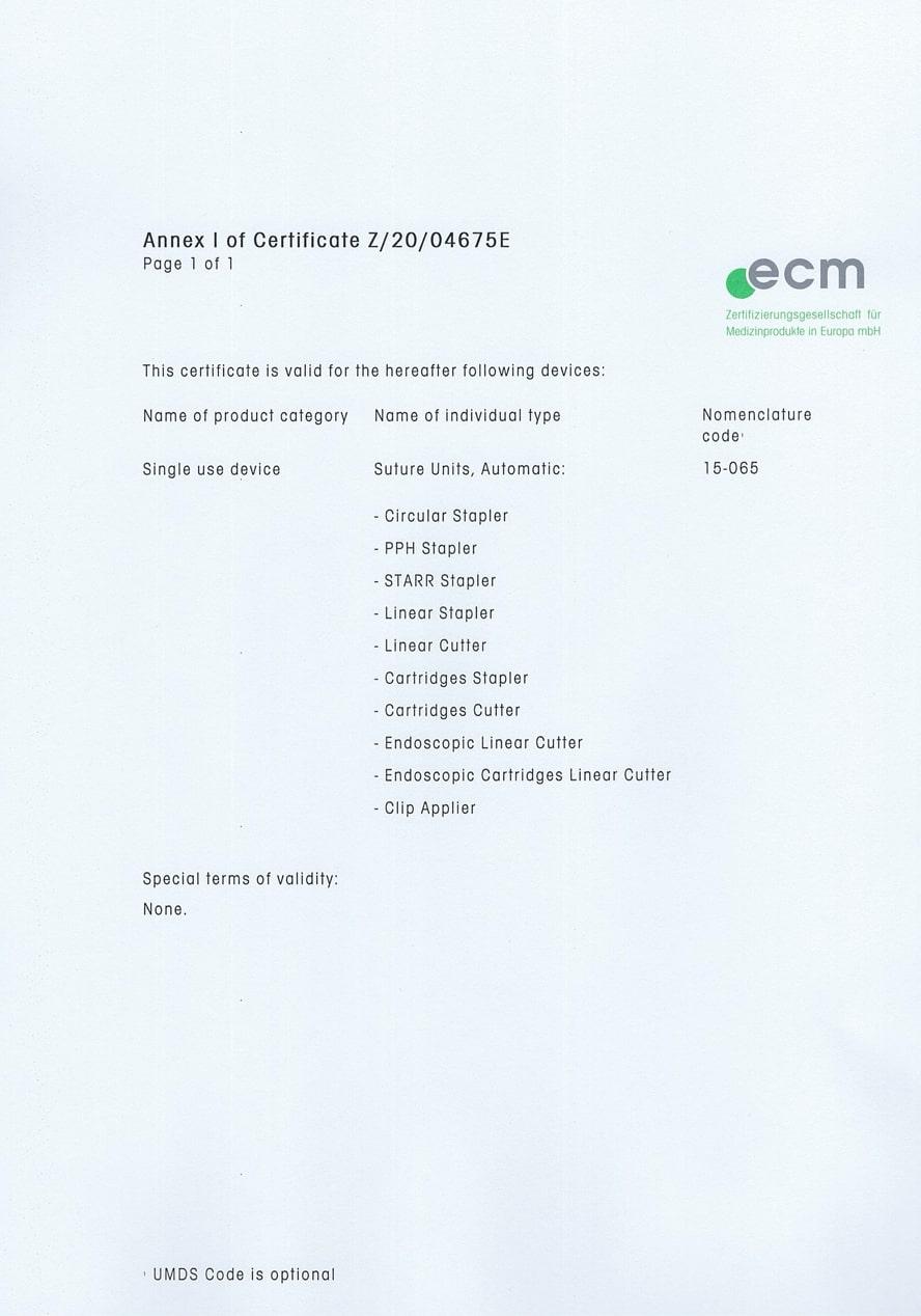 Zertifikat Z/20/04675E